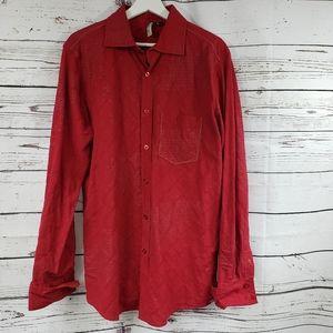 Oakley RARE Red Signature Button Down Shirt